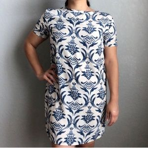 Soprano | Damask Pattern Short Sleeve Dress